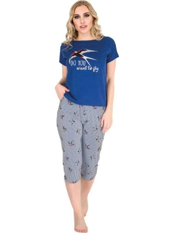Berland 3215 Kısa Kol Kapri Pijama Takımı