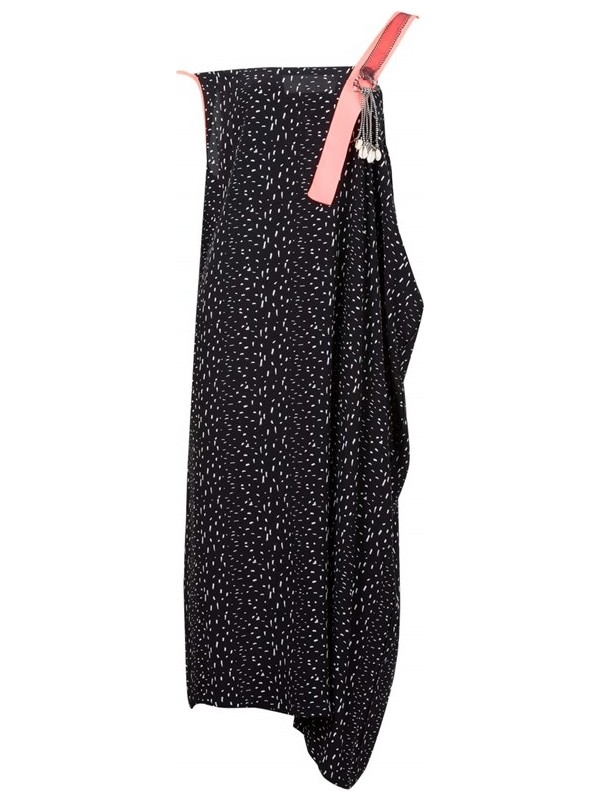 Bize Fashion 2429 Kadın Elbise Siyah-Pembe
