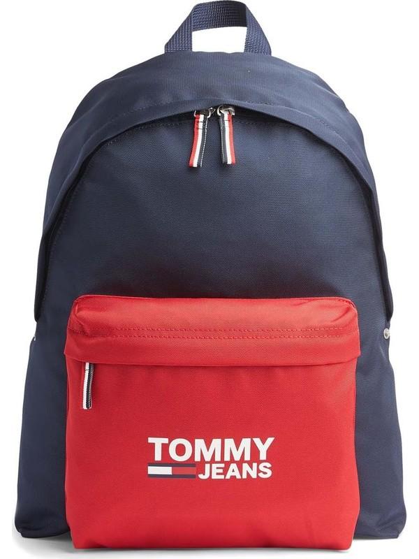Tommy Hilfiger AW0AW07632 Lacivert/kırmızı Unisex Sırt