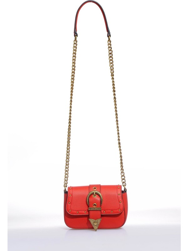 Versace J.couture E1 Vzabd4 Kırmızı Kadın Omuz Çantası