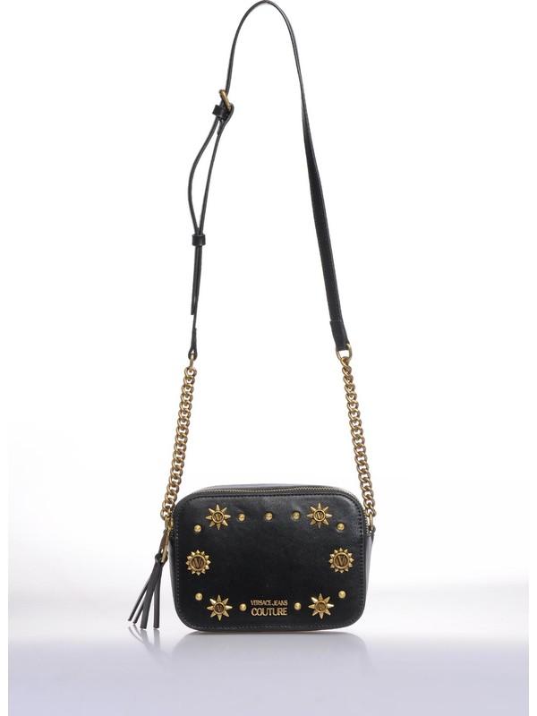 Versace J.couture E1 Vzbbo2 Siyah Kadın Omuz Çantası