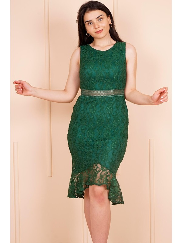 SpringStore Zümrüt Kısa Mezuniyet Elbisesi