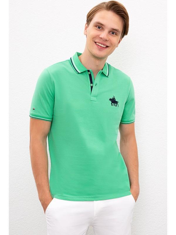 U.S. Polo Assn. Erkek Yeşil T-Shirt 50225241-VR020