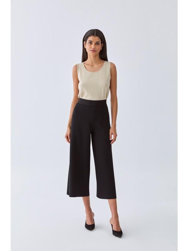 Triko Mısırlı Kadın Pantolon W20S B011 Pn101 Siyah