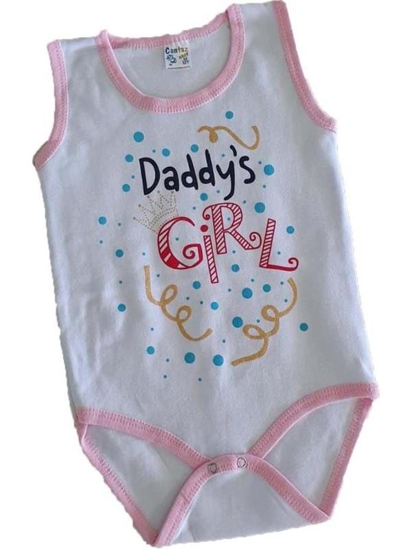 Cantaz Kız Bebek Dady's Girl Baskılı 3-4 Yaş Çıtçıtlı