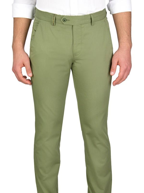 Middleist Düz Regular Fit Pantolon Yeşil