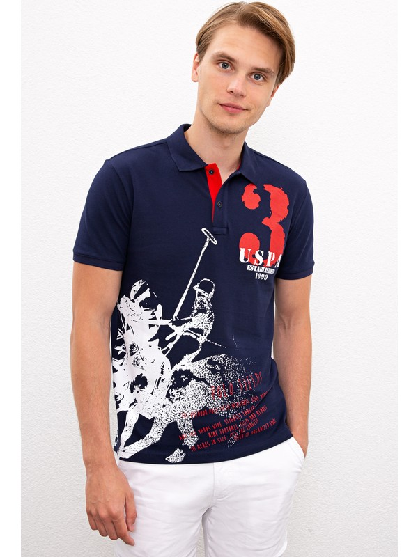 U.S. Polo Assn. Erkek Lacivert T-Shirt 50219226-Vr033