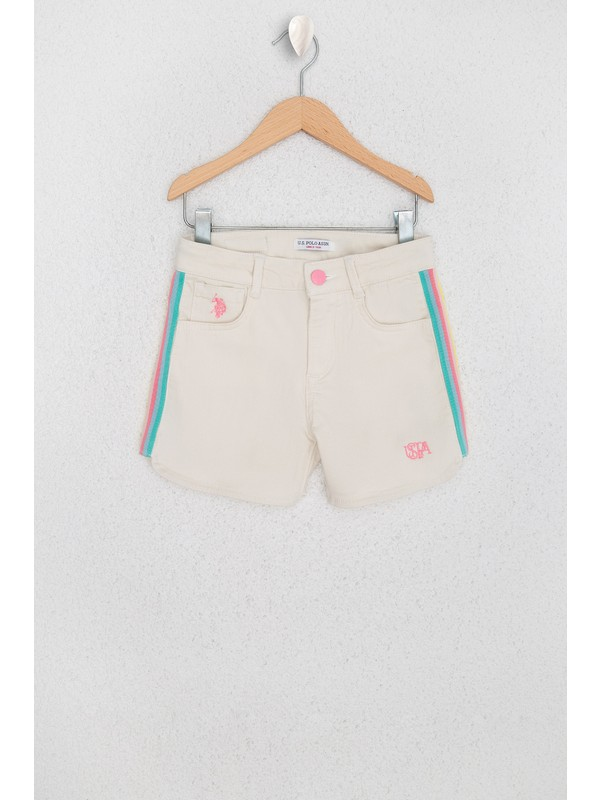 U.S. Polo Assn. Kız Çocuk Dokuma Bermuda Capri 50218383-VR019