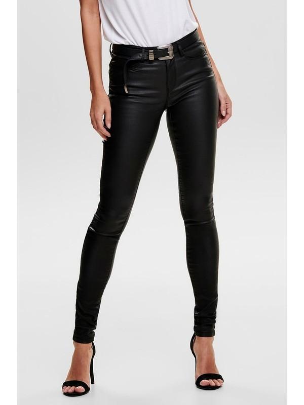 Only 15151791 Kadın Onlanne K Mıd Waıst Coated Jeans Noos Denim Pantolon 20Y