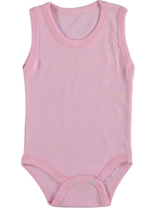 Burtaç Baby Düz Renk Askılı Çıt Body