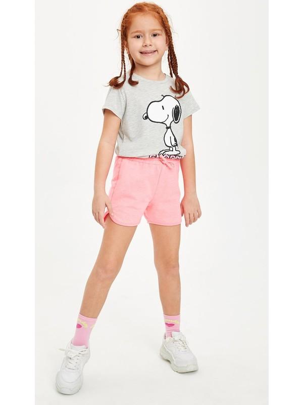 DeFacto Kız Çocuk Bağcık Detaylı Şort L6125A620HS