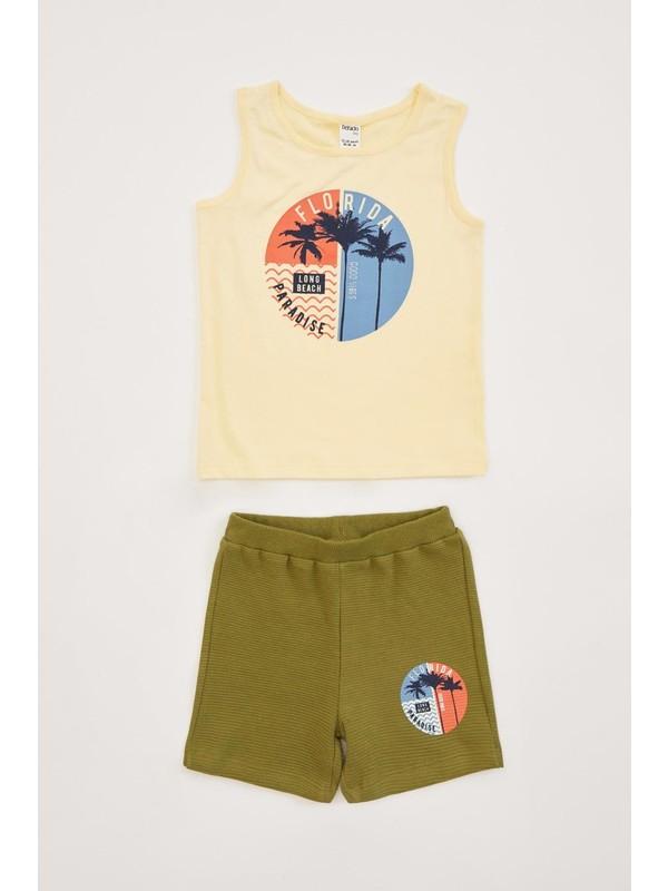 DeFacto Erkek Bebek Seaside Şort Tişört Takım R1316A220SM