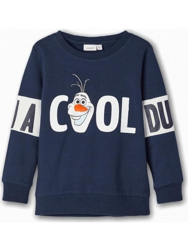Name İt Erkek Çocuk Olaf Uffe Baskılı Sweatshirt