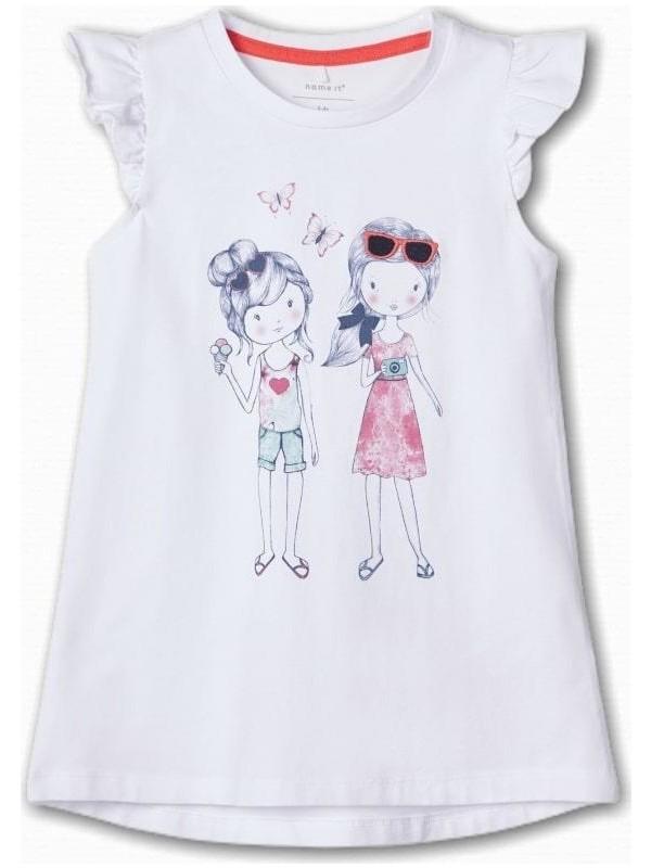 Name İt Kız Çocuk Baskılı Kolsuz T-Shirt