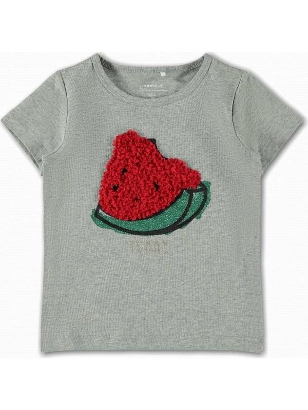 Name İt Kız Çocuk Karpuz Baskılı T-Shirt