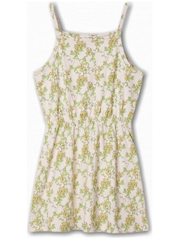 Name İt Kız Çocuk Yaprak Baskılı Elbise
