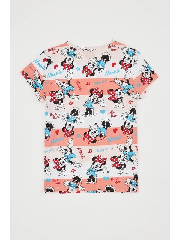 DeFacto Kız Çocuk Minnie Mouse Lisanslı Tişört R9354A620HS