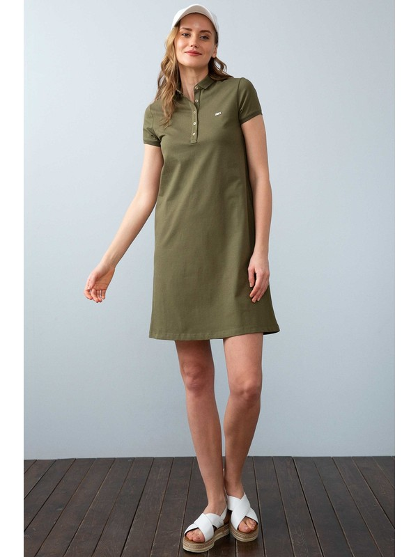 U.S. Polo Assn. Kadın Yeşil Örme Elbise 50225487-Vr111