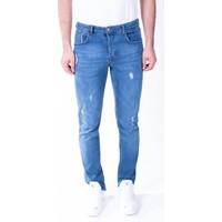 Zenet Jeans Erkek Slimfit Yırtık Detay Mavi Kot Pantolon