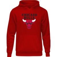 Fandomya All-Star Chicago Bulls Kırmızı Sweatshirt
