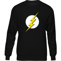 Fandomya Flash Logo Siyah Sweatshirt