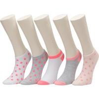 Damla9 5 Lı Ptk-G Pembe Multı Kız Çocuk 5'li Patik Çorap