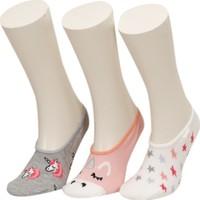 Unıcorn 3 Lu Suba-G Pembe Multı Kız Çocuk Çorap