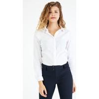 Pera Club Beyaz Basic Gömlek