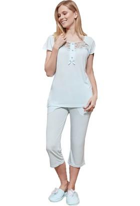 By Mecit 5045 Capri Büyük Beden Kadın Pijama Takımı