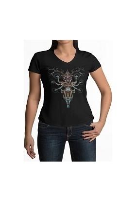 Tshigo Antik Mısır V Yaka Kadın T-Shirt