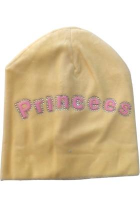 Akyüz Bebe Prenses Kız Bebek Polar Şapka - Sarı - 0-3 Ay