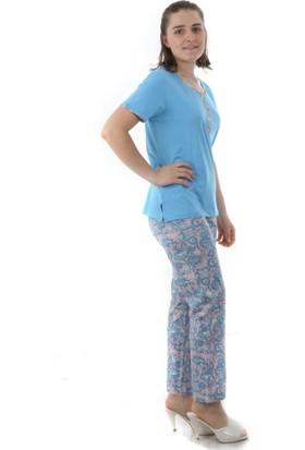 Çift Kaplan Kısa Kol Pijama Takım 7455
