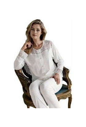 Espuar Penye Uzun Kol Dantelli Pijama Takım 745