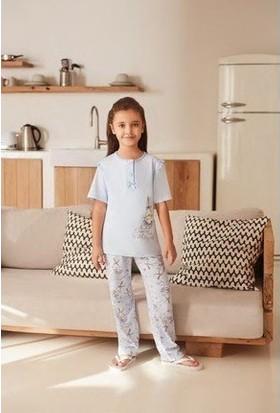 Feyza Kız Çocuk Kısa Kol Pijama Takım 3233