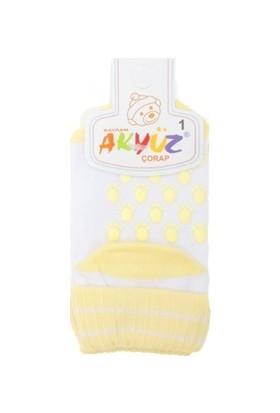 Akyüz Bebe Penye Altı Kaymaz Çorap Sarı