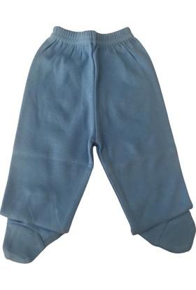 Akyüz Bebe Ayaklı Erkek Bebek Tek Alt - Mavi - 3-9 Ay