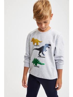 DeFacto Erkek Çocuk Payet İşlemeli Sweatshirt S6241A620AU