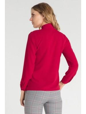 Pera Club Fularlı Kırmızı Gömlek
