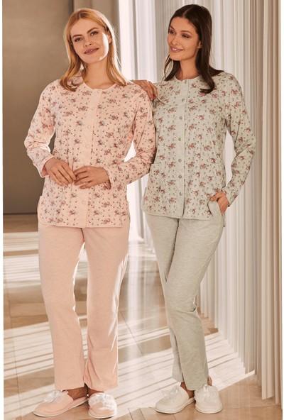 By Mecit 5265 Büyük Beden Kadın Pijama Takımı