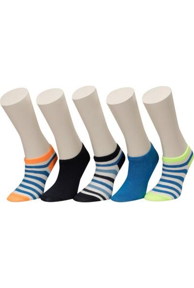 I Cool Neon Stripe 5 Lı Ptk-B Lacivert Erkek Çocuk 5'li Patik Çorap
