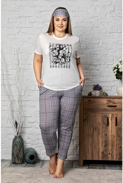 Mossta Kısa Kol Büyük Beden Pijama Takım