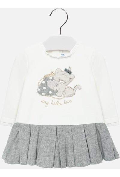 Mayoral Kız Bebek Gri Pileli Elbise 2912 24 Ay