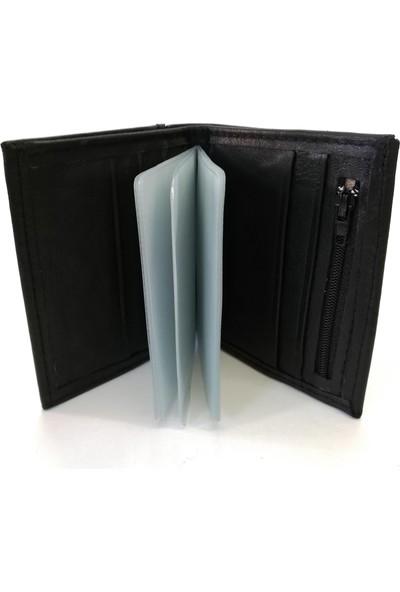 Cascades Leather Deri Mat Siyah Çıkarılabilir Kartlıklı Erkek Cüzdan S1