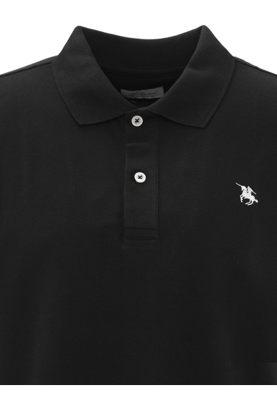 D'S Damat Polo Yaka Regular Fit Büyük Beden T-Shirt