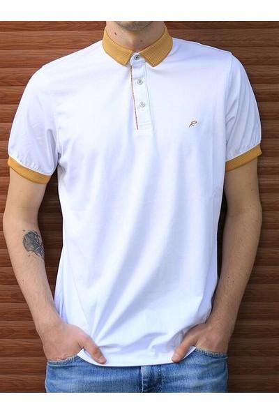 Rodrigo Yakası Hardal Erkek T-Shirt (Hardal)