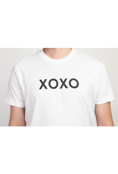 I And Basic Beyaz %100 Organik Pamuklu Basic Erkek Tişört / Xoxo S