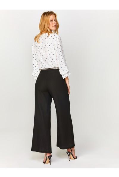 Faik Sönmez Kadın Wide Leg Fit Önü Yırtmaçlı Pantolon 60555