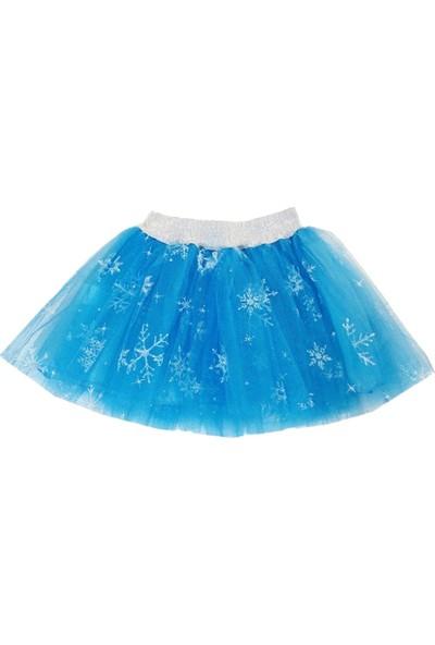 Denito Kız Çocuk Mavi Turkuaz Kartanesi Tül Tütü Etek