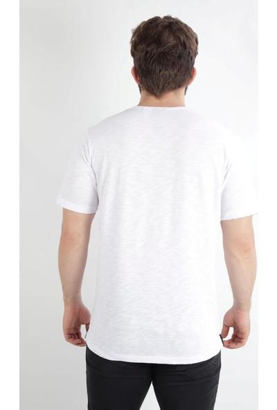 Alexander Gardi Baskılı Bisiklet Yaka Flamli Kumaş Regular Fit T-Shirt