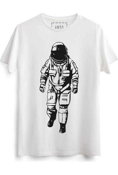 Awdo Özel Astronot Koleksiyon %100 Pamuk Baskılı Unisex Tişört